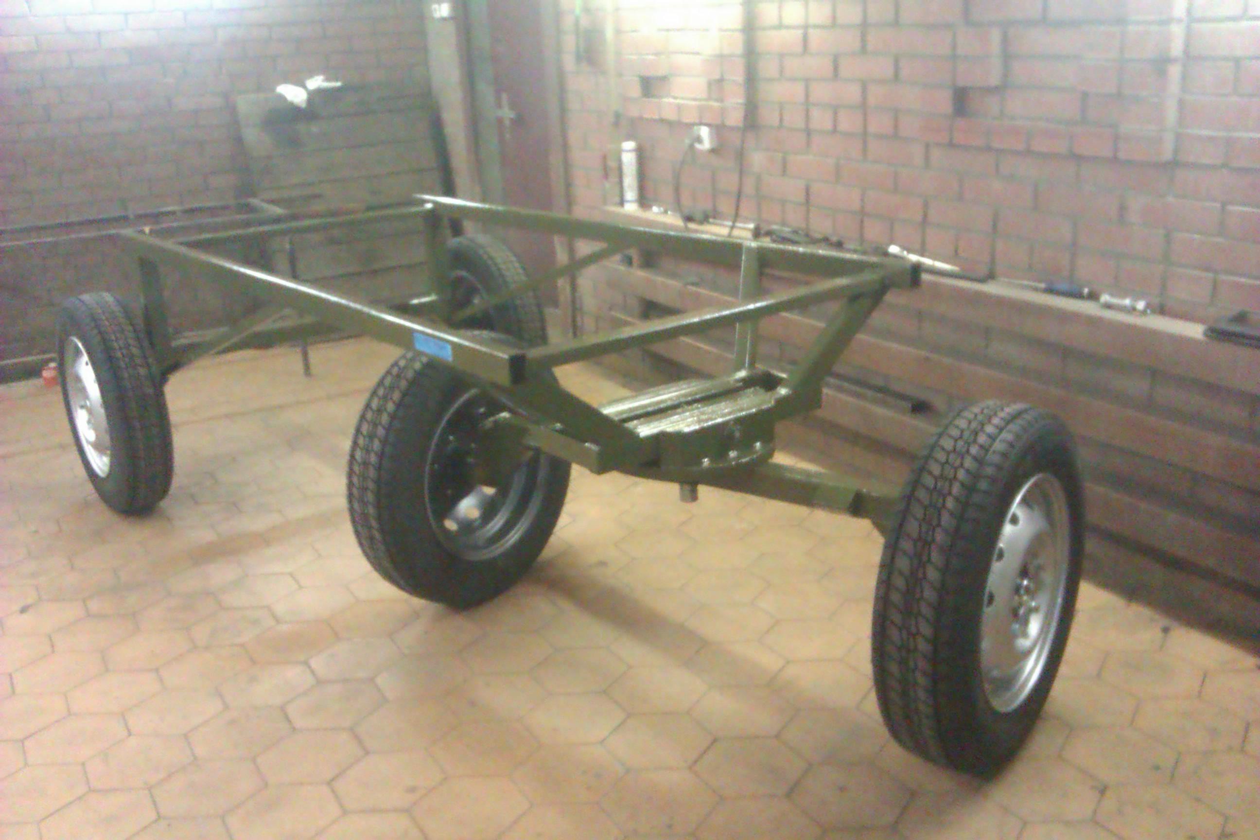 Тележка из автомобильных колес